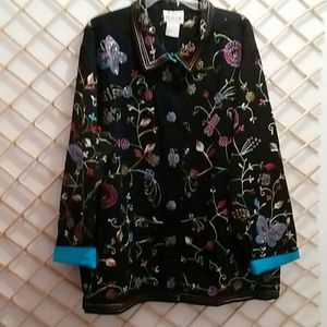 Embroidered, Quaker Factory jacket size 2X